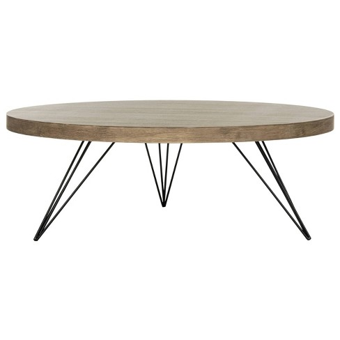 Contemporary Coffee Table.Mansel Coffee Table Light Gray Safavieh