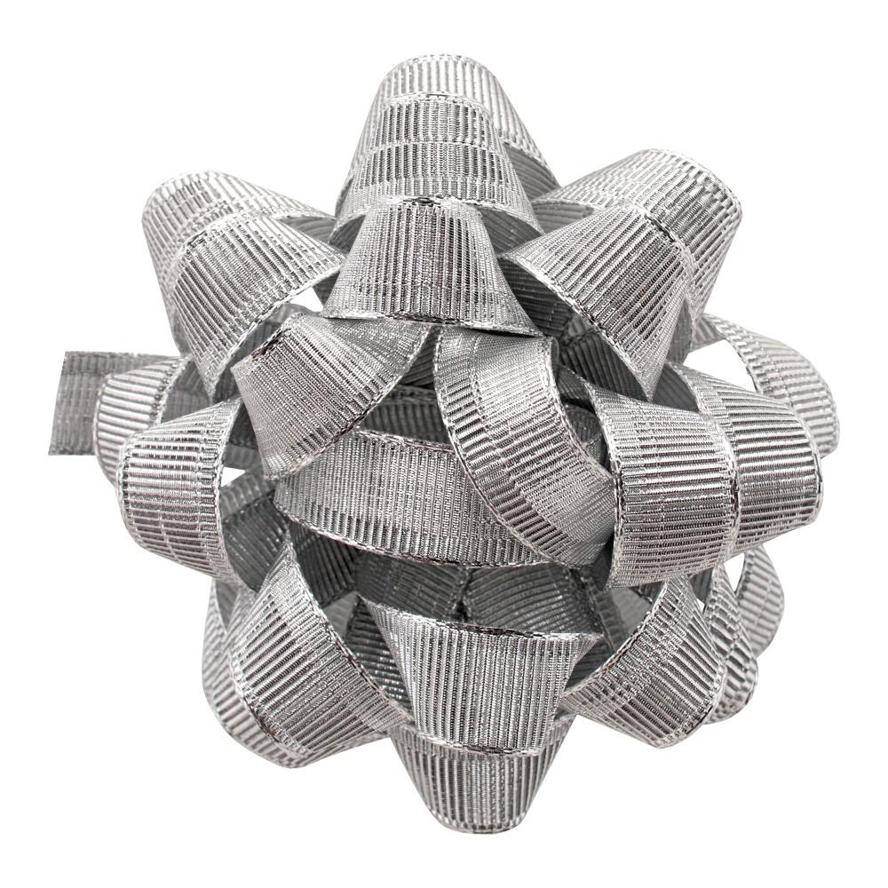 Silver Fabric Gift Bow - Wondershop