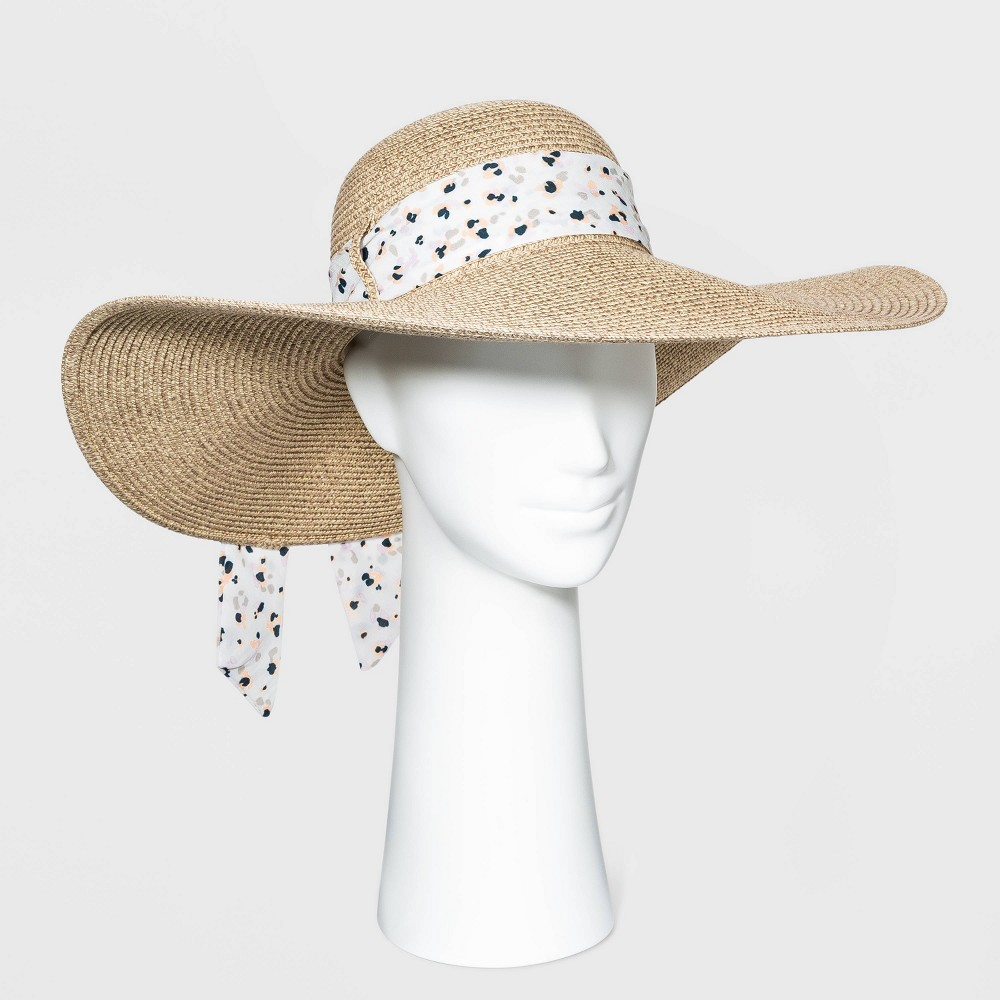 Women 39 S Wide Brim Straw Floppy Hat A New Day 8482 Natural
