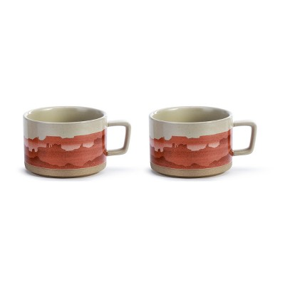 DEMDACO Off the Beaten Path Soup Mug - Set of 2 Red