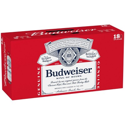 Budweiser Lager Beer - 18pk/12 fl oz Cans