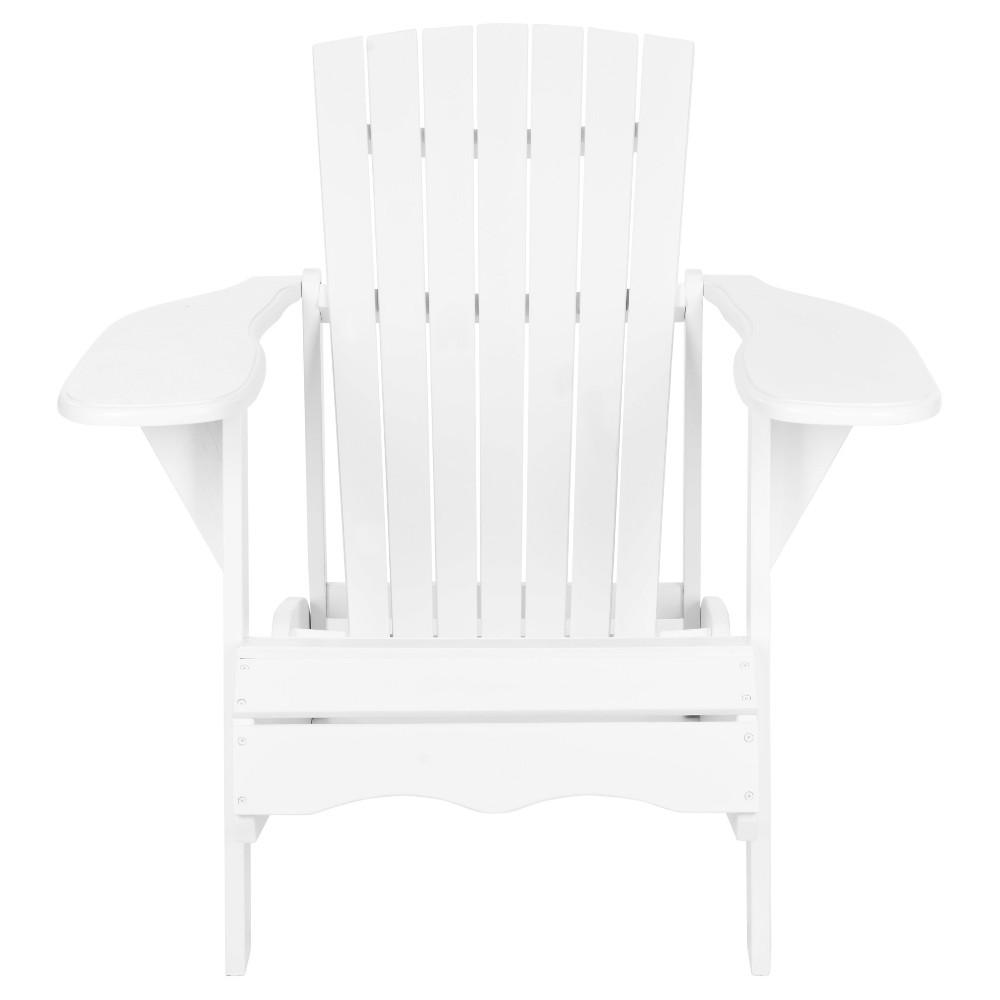 Elba Wood Patio Adirondack Chair White Safavieh