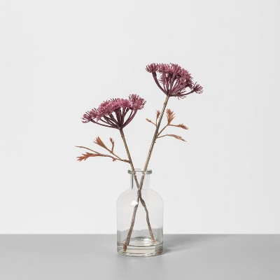 "9"" Faux Dried Achillea Arrangement Clear - Hearth & Hand™ with Magnolia"