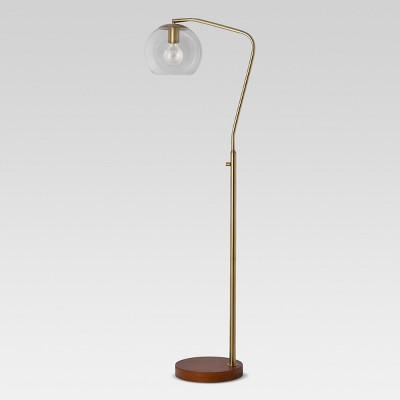 Madrot Glass Globe Floor Lamp Brass - Project 62™