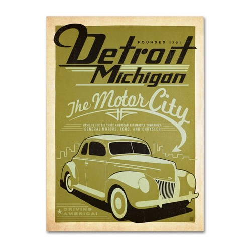 'Detroit' by Anderson Design Group Ready to Hang Canvas Wall Art - image 1 of 3