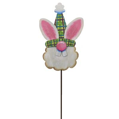 """Easter 29.0"""" Bunny Gnome Garden Stake Holiday Bunny Face  -  Decorative Garden Stakes"""