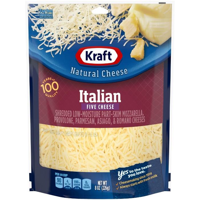 Kraft Shredded Italian Five Cheese Blend - 8oz - image 1 of 4