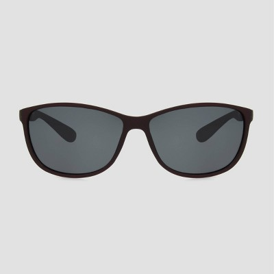 Women's Square Plastic Sunglasses with Smoke Polarized Lenses - A New Day™ Burgundy