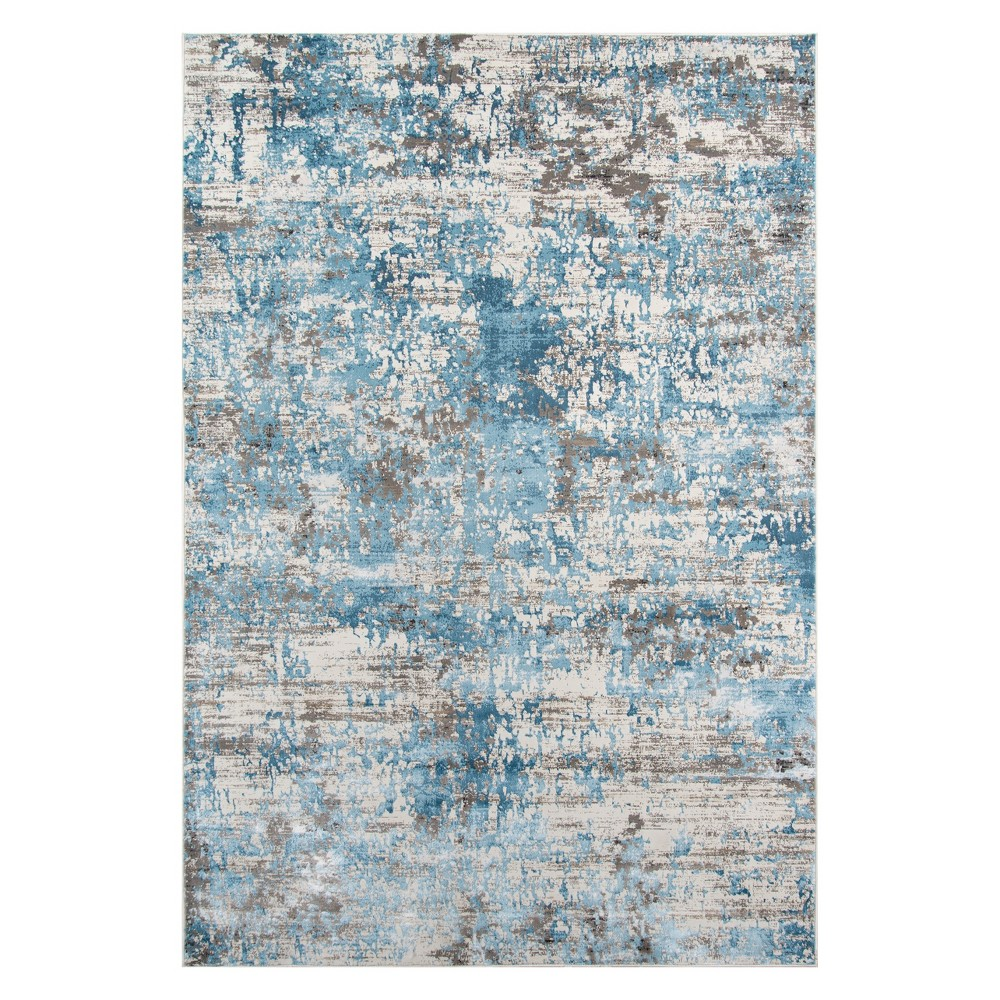 2'X3' Fleck Loomed Accent Rug Blue - Momeni