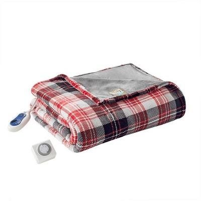"60"" x 70"" Oversized Electric Plush Throw Blanket"
