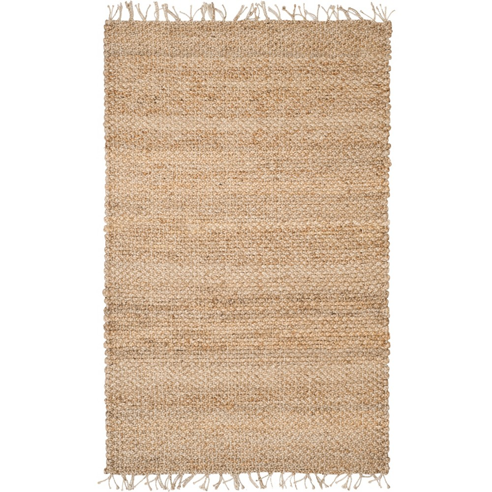 5'X8' Solid Woven Area Rug Light Gray - Safavieh, White