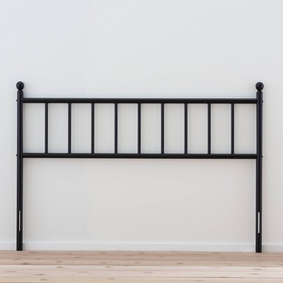 Ada Traditional Metal Headboard with Vertical Panels Black - Brookside Home