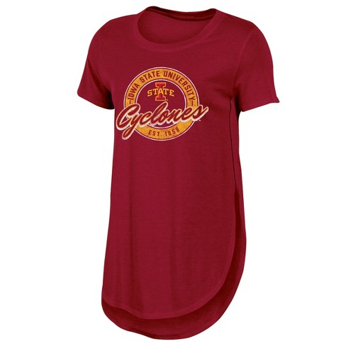 Iowa State Cyclones Women's Heathered Crew Neck Tunic T-Shirt - image 1 of 2