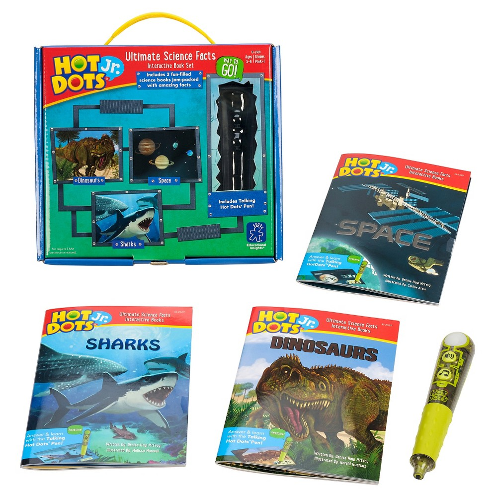Educational Insights Hot Dots Jr Ultimate Science Facts Interactive Book Set With Talking Pen