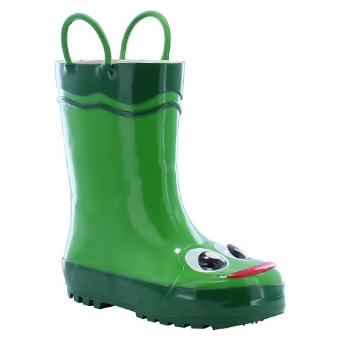 Toddler Boy Frog Rain Boot Green - Western Chief - image 1 of 3