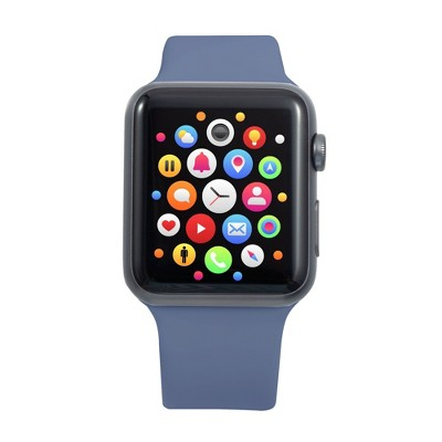 Insten Soft TPU Rubber Replacement Band for Apple Watch 42mm 44mm All Series SE 6 5 4 3 2 1, Lavender Gray