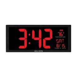 """14.5"""" Digital Clock with Indoor Temperature - AcuRite"""
