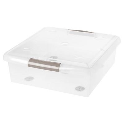 IRIS 25 Qt. Sliding Plastic Storage Bin