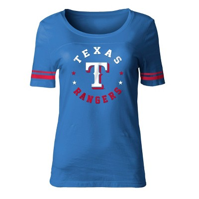 MLB Texas Rangers Women's Poly Rayon Fashion T-Shirt