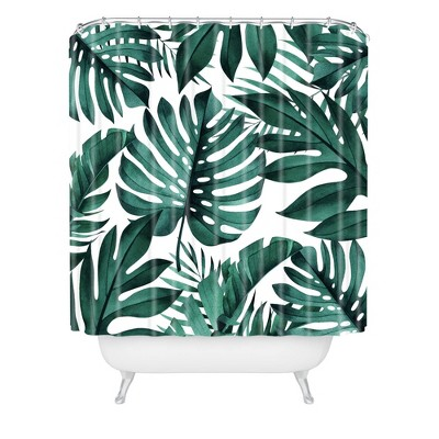 Gale Switzer Jungle Collective Shower Curtain Green - Deny Designs