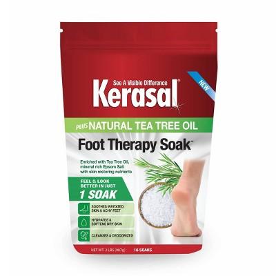 Kerasal Foot Therapy Soak Plus Natural Tea Tree Oil - 32oz