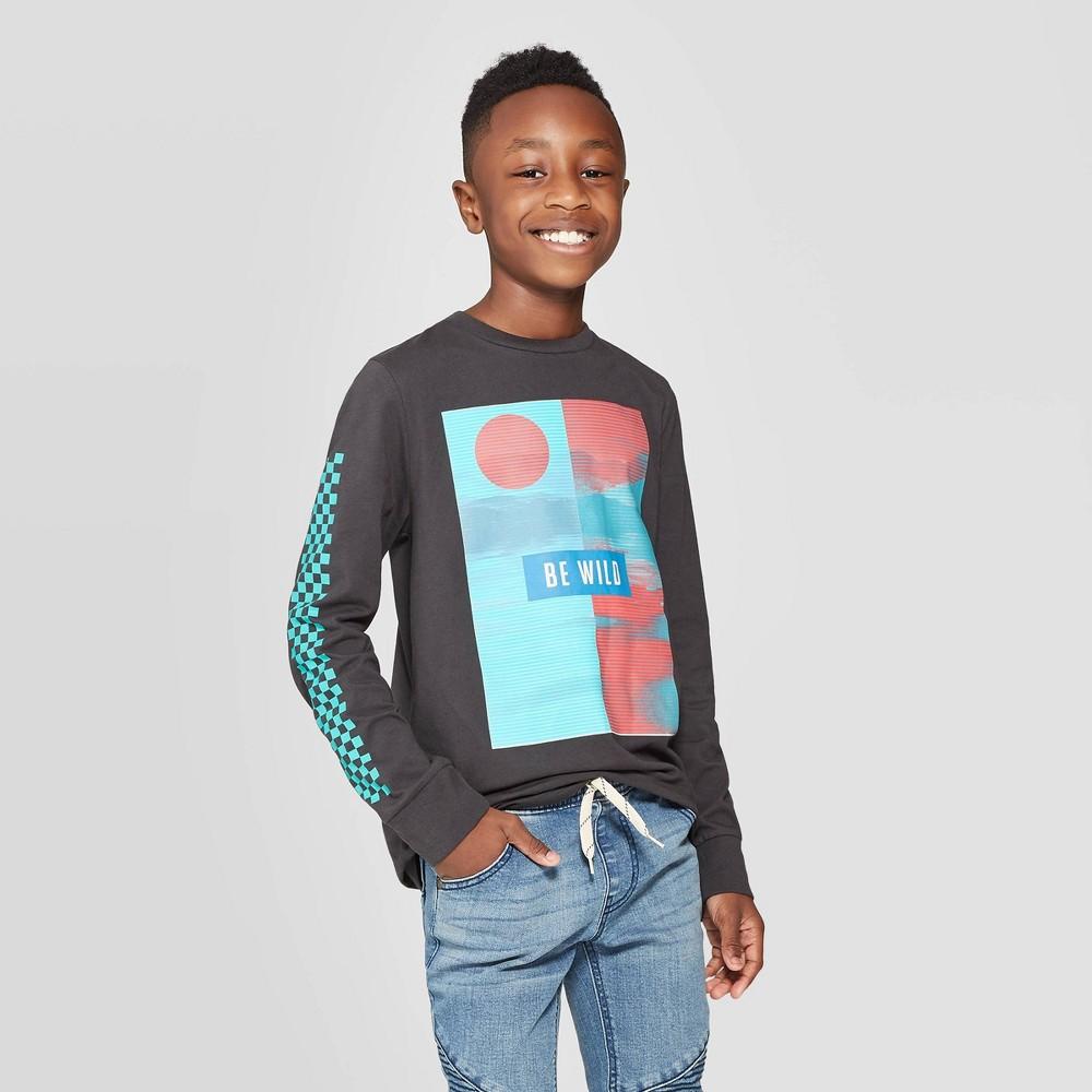 Image of Boys' Long Sleeve Graphic T-Shirt - art class Black L, Boy's, Size: Large