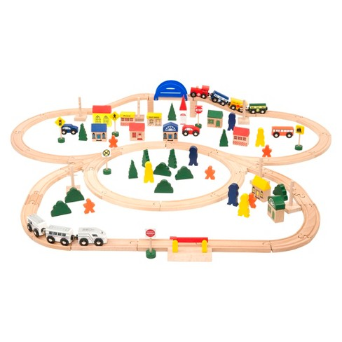 Battat All Aboard Deluxe Wooden Train Set - image 1 of 3