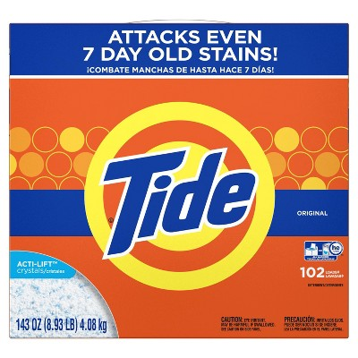 Tide HE Turbo Original Powder Laundry Detergent - 143 oz 102 Loads