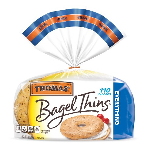 Thomas® Everything Pre-Sliced Bagel Thins - 8ct - image 1 of 4
