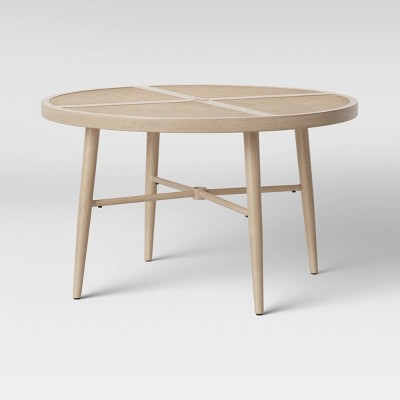 """Leona 46"""" Round Crushed Bamboo Stamped Steel Top Patio Dining Table - Opalhouse™"""