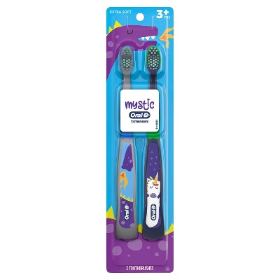 MYSTIC by Oral-B Kid's Toothbrush for Children and Toddlers 3+ Soft Bristles - 2ct