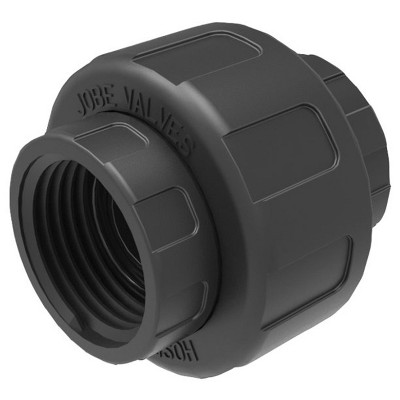 Jobe Valves J-ADF100 3/4 Inch Quick Connect Nylon Swivel Adapter Union Fitting Attachment for Indoor Outdoor Garden Hose Pipes and Faucets