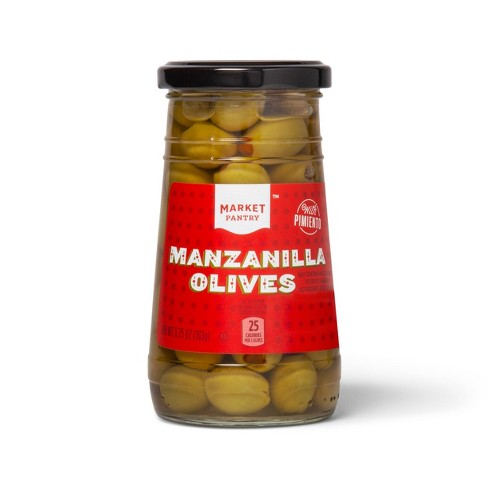 Pimiento Stuffed Green Olives - 5.75oz - Market Pantry™ - image 1 of 1
