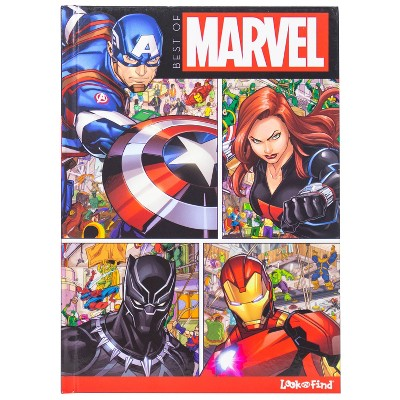 Best of Marvel Spider-Man, Avengers - Look And Find Book (Hardcover)