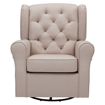 Delta Children® Emma Nursery Glider Swivel Rocker Chair - Flax