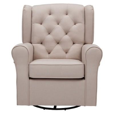 Merveilleux Delta Children® Emma Nursery Glider Swivel Rocker Chair   Flax