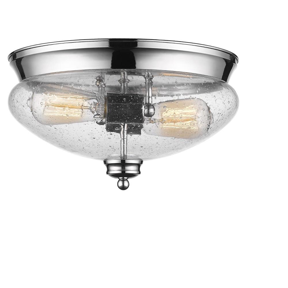 2 Light 7 5 34 Ceiling Light Flush Mount Chrome Z Lite