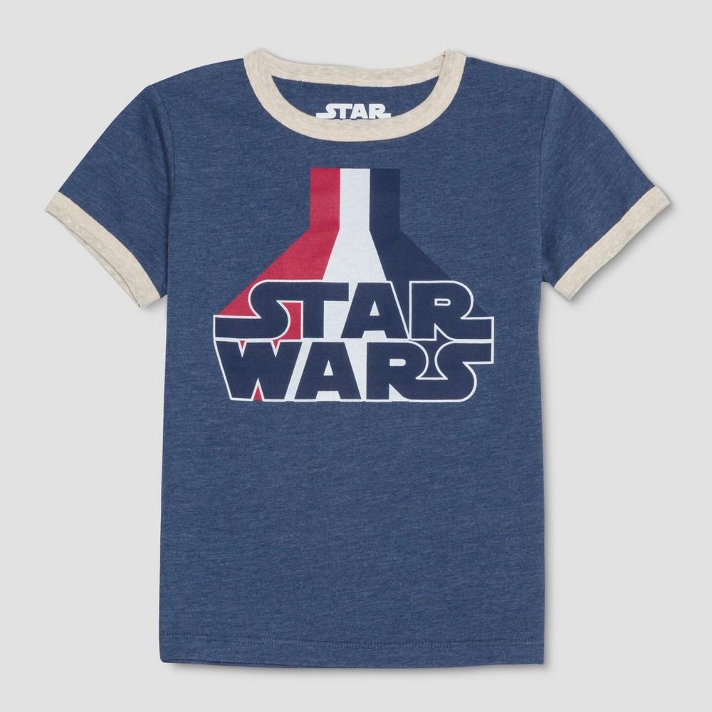 Toddler Boys' Star Wars Americana Short Sleeve T-Shirt - Blue 3T
