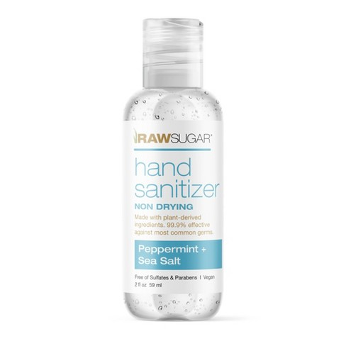 Raw Sugar Mini Hand Sanitizer Peppermint + Sea Salt - Trial Size - 2 fl oz - image 1 of 3