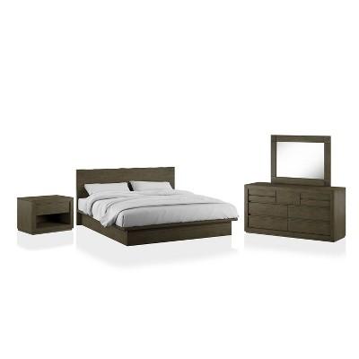 4pc Deerpath Transitional Bedroom Set Light Walnut - HOMES: Inside + Out