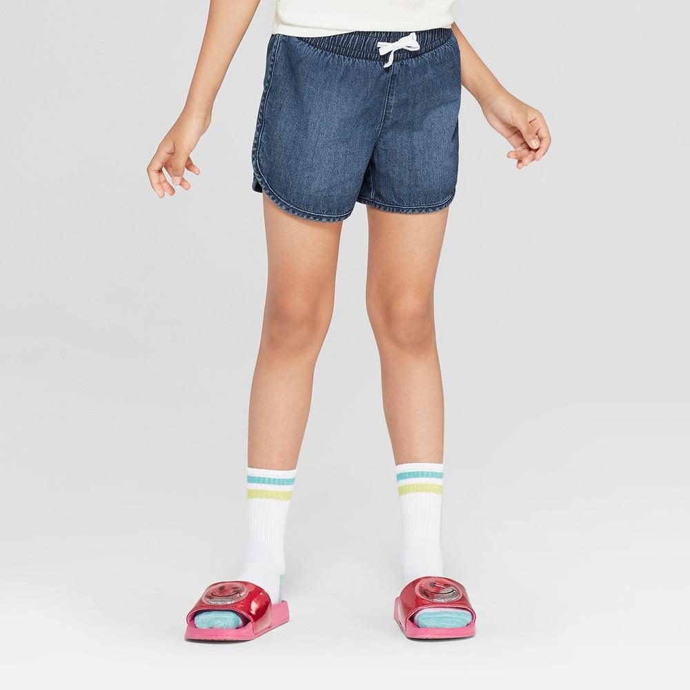 Plus Size Girls' Elastic Waist Pull-On Shorts - Cat & Jack Medium Wash XL Plus, Blue