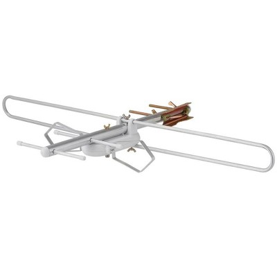 Monoprice Round Tube Attic or Outdoor VHF And UHF HDTV Antenna, 60 Mile Range, Anti-Rust, Waterproof and Weather Resistant