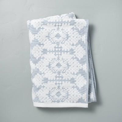 Geo Medallion Bath Sheet Faded Blue - Hearth & Hand™ with Magnolia