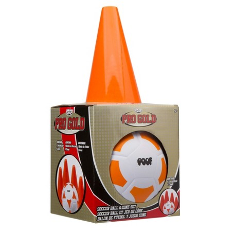 POOF Pro Gold Soccer Ball and Cone Set - image 1 of 5