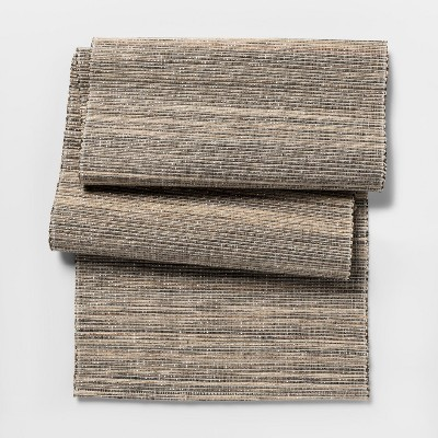 108 x14  Stripe Table Runner Natural - Threshold™