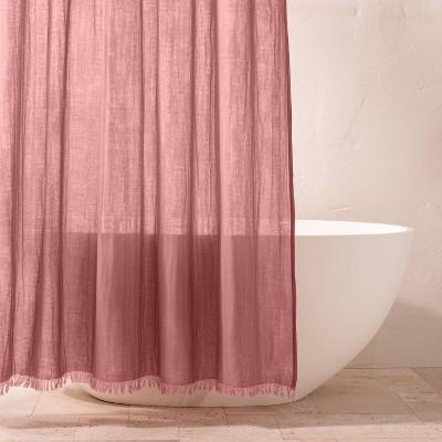Gauze Shower Curtain Rose - Casaluna™