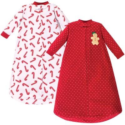 Hudson Baby Unisex Baby Long-Sleeve Fleece Sleeping Bag - Sugar Spice 0-9M