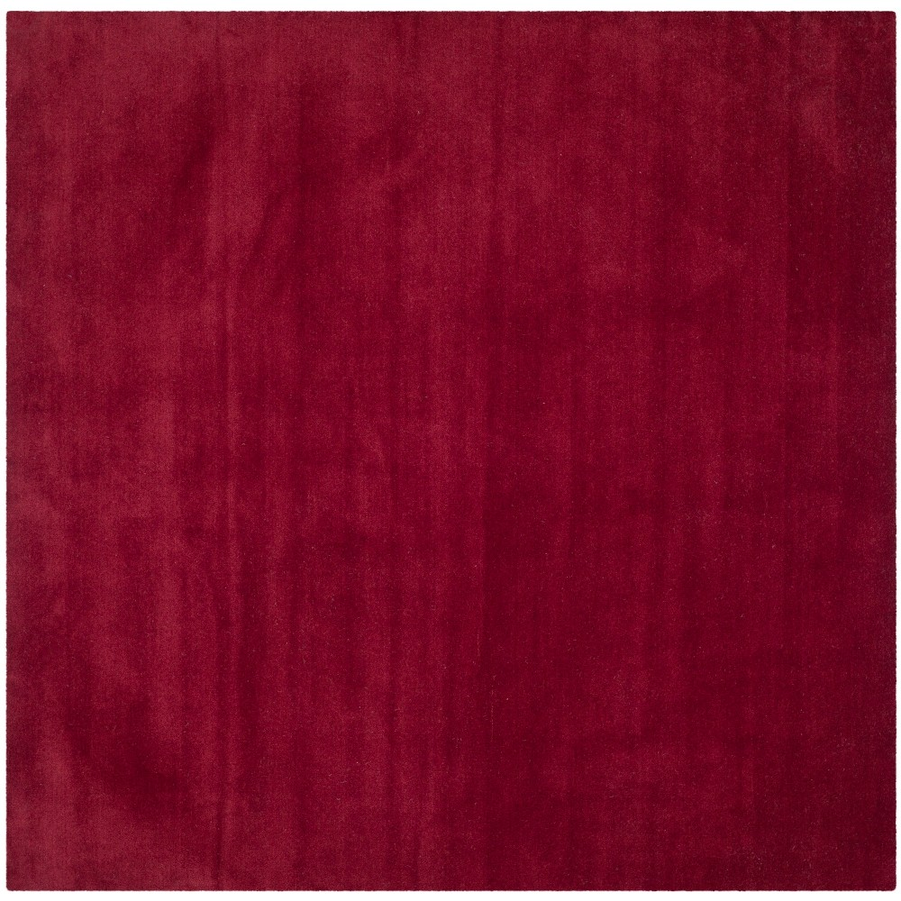 8'X8' Solid Tufted Square Area Rug Red - Safavieh