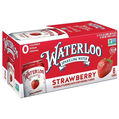 Waterloo Strawberry Sparkling Water - 8pk/12 fl oz Cans