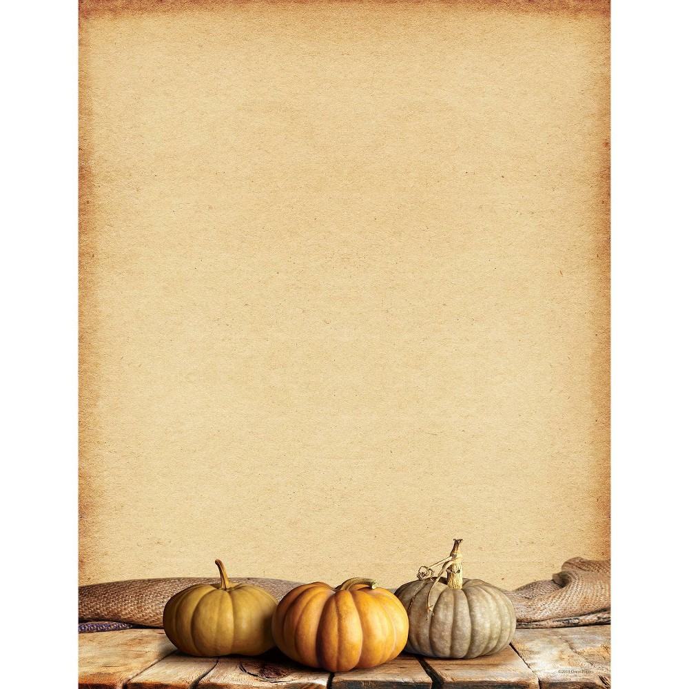 Image of 25ct Fall Pumpkins Letterhead